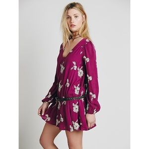 Free People Embroidered Austin Dress Medium